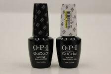 (GC010 + GC030) - OPI GelColor -  Gel TOP Coat and Gel BASE Coat .5oz