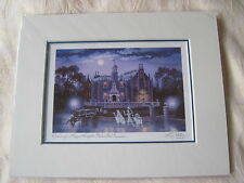 WDW Disney Haunted Mansion Signed Art Print Larry Dotson Hitchhiking Ghosts NIP