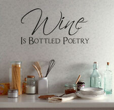 Wine Is Bottled Poetry Wall Art Decor House Decoration Living Room Sticker Mural
