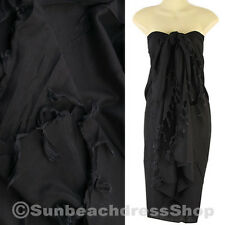 Hawaii Luau Pool Cruise Black Sarong Pareo Cover-up Beach Wrap sa084d