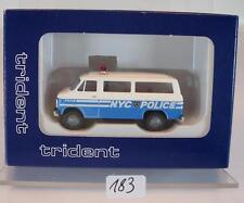 Trident 1/87 No. 90096 Chevrolet Van New York City State Police Polizei OVP #183