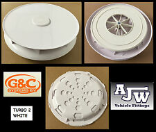 Turbo 2 Rotary Roof Vent, Low Profile WHITE For Renault Trafic, Kangoo, Master