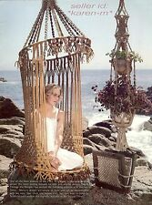 NEPTUNE HANGING CHAIR SWING~Pattern Book~BUTTERFLY SHAWL~New Ideas With Macrame