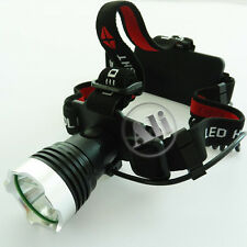NEW 1600Lm CREE XM-L XML T6 LED Headlamp Rechargeable Headlight FOR 2x18650