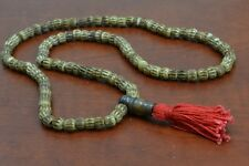 108 PCS CARVED BROWN TIBETAN BUDDHIST BUFFALO BONE MALA PRAYER BEADS 6MM #T-1816