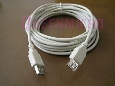 10FT Premium USB 2.0 Type A Male to Female F/M Extension Shielded Cable Ivory