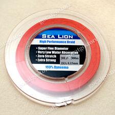 NEW Sea Lion 100% Dyneema Spectra Braid Fishing Line 300M 20lb Red