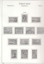Las Malvinas Dep KABE páginas, muy limpio, Hawid cubierta por tipo de sello, vea la lista