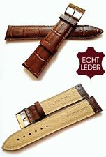 Qualität Uhrenarmband Leder Armband Watch Strap Genuine Leather Band braun 22 mm