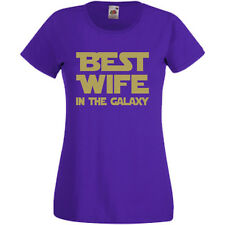 Best Wife In The Galaxy Womens Ladyfit T-Shirt Tee Gift Star Wars Mothers Day
