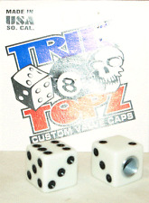 Trick Top Schrader Valve Caps / White Dice NEW!