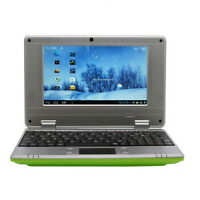 "NEW 7"" NETBOOK MINI LAPTOP WIFI ANDROID 4GB NOTEBOOK PC CHEAP LAPTOP Green"