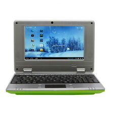"Nouveau 7"" netbook mini ordinateur portable wi-fi ANDROID 4GB notebook pc bon marché ordinateur portable vert 8GB"