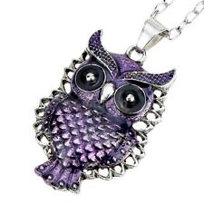 Romacci Vintage Style Fashion Purple Owl Pendant Chain Necklace Jewelry Gift