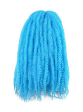 CYBERLOXSHOP MARLEY BRAID AFRO KINKY HAIR TURQUOISE BLUE DREADS SYNTHETIC