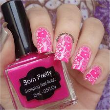 15ml Born Pretty Nail Art Stamp Stamping Polish Rose Red Nail Polish Varnish 21#