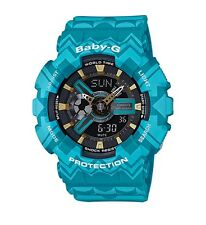 Casio Baby-G * BA110TP-2A Anadigi Tribal Pattern Blue Ivanandsophia COD PayPal