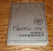 Original 1981 Cadillac Service Shop Manual 81 Eldorado Fleetwood DeVille Seville