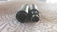 6 POL MINI-DIODENSTECKER  STECKER + KUPPLUNG 1 Paar (2 Teile)          24926