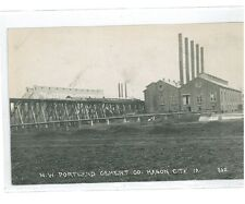 B82421 US Iowa Mason City NW Portland Cement Factory Real photo front/back image