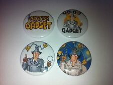 4 Inspector Gadget button badges 25mm cult retro 80s 90s kids TV