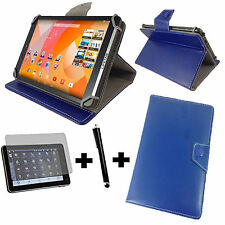 3in1 Set 8 zoll 20,32 cm Medion Lifetab P8314  Tasche Hülle + Pen + folie - Blau