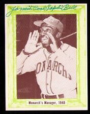 James Cool Papa Bell Negro Leagues Hall of Fame SIGNED 1976 D&S Card Monarchs