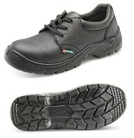 SAFETY WORK SHOES BOOTS LEATHER STEEL TOE CAP CLICK BLACK MENS/LADIES SIZES 3-13