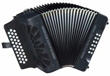 Hohner COMPADRE 31 Button COGB GCF Diatonic Accordion BLACK + Gig Bag + Straps