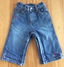 Baby Gap 6-12 Months Little People Lined Jeans Himalaya HTF Rare Snap Legs Euc