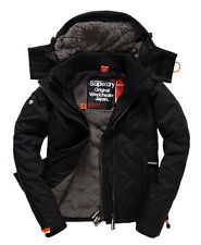 New Womens Superdry PREMIUM Jacket LARGE SLIM FIT BLACK