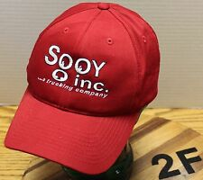 SOOY INC......A TRUCKING COMPANY HAT CHENEY WASHINGTON RED ADJUSTABLE EXC COND