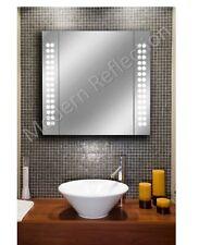 Bathroom Mirror Storage Cabinet LED - Sensor | Shaver | Demister | 650x600mm