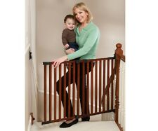 KidCo G2301 Angle Mount Cherry Wood Safeway - #1 Rated Top Of Stairs Baby Gate