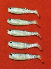 5 leurres souple savagear cannibal 8 cm minnow