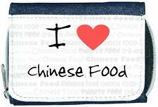 I Love Heart Chinese Food Denim Wallet