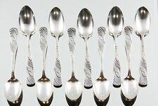 Set of 10 Antique Holmes & Edwards Sterling Inlaid Spoons Warner / Bridgeport