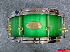 "Handschuh Maple Air Ply Special Snaredrum in ""Green Burst High Gloss""  -  13x6"""