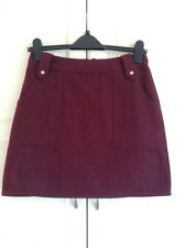 Topshop , Wool A-Line Mini Skirt , UK Size 10 , RRP - £38  ( LAST TWO )