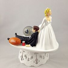Funny Wedding Cake Topper Football Themed Oakland Raiders Humrous And Unique