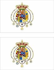 set of 2x sticker vinyl car bumper decal kingdom italy flag the Two Sicilies