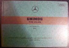 Mercedes Unimog 413 + 416 Ersatzteilliste