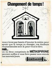 PUBLICITE ADVERTISING  1963   METASPIRINE    médicaments aspirine