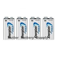 4 Energizer Ultimate Lithium 9V (9 Volt) Batteries (L522, 6LR61, 1604LC)