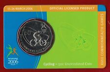 2006 Melbourne XVIII Commonwealth Games 50c Uncirculated Coin - Cycling