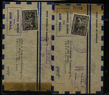 Nicaragua   2  nice  registered censor covers to US 1945                 MS0825