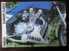 CATALOGUE  PROSPECTUS  1991  YAMAHA XJ 900 / XJ 600