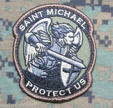 MODERN SAINT ST. MICHAEL PROTECT US TACTICAL USA ARMY MORALE FOREST HOOK PATCH