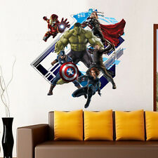 3D View The Avengers Captain America wall sticker wall decals PVC wallpaper uk