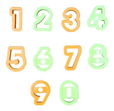 "2"" Cookie Cutters NUMBERS Dough Cake Decorating Mould Number Cutters"